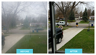 Before and After Replaced Glass