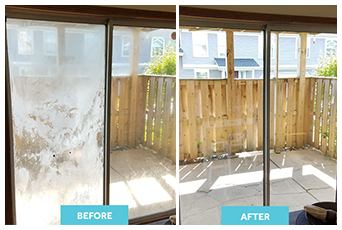 Before and After Sliding Glass Replacement